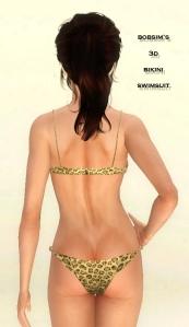 bobsim 3D bikini top and bottom
