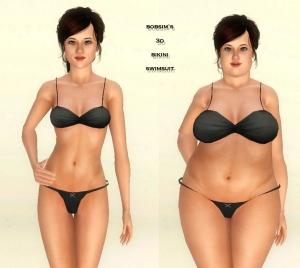 bobsim 3D bikini top and bottom2
