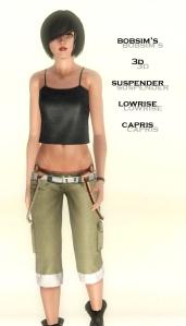 bobsim's 3D lowrise suspender capris2