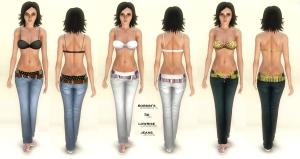 Bobsim's 3D Lowrise Jeans
