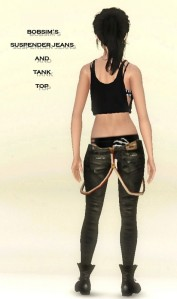 BOBSIM'S SUSPENDER JEANS AND TANK TOP2