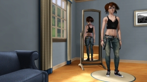 BOBSIM'S SUSPENDER JEANS AND TANK TOP